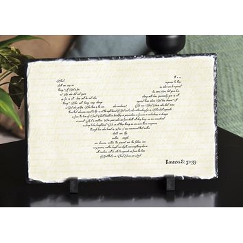Handmade and Customizable Slate Bible Verse Sign - Dove Wings