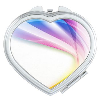 Abstract Swirl 1 Makeup Mirror