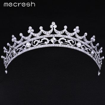 Mecresh European Style Crystal Bridal Crown Tiara Gorgeous Rhinestone Wedding Hair Accessories Jewelry Free Shipping HG003