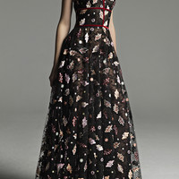 Embroidered A-Line Gown | Moda Operandi