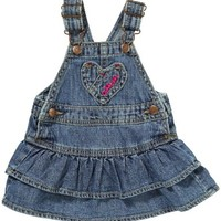 OshKosh Bgosh Baby Girls Tiered Denim Jumper / Jean Dress , Size: 6 months
