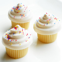 Cake Batter Mini Cupcake Soaps  Mini by SweetbathConfections