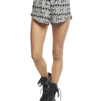 Wet Seal Women's Striped Aztec Challis Short