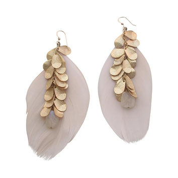 Sirissima | Heather Feather Earrings