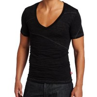 Andrew Christian Men's The Bowery Skinny Tee, Black, Medium