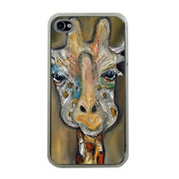 Giraffe iphone case 4 or 4s case  Ivan by HeavenlyCreaturesArt