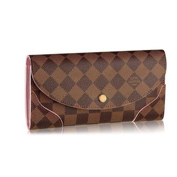 DCCK Louis Vuitton Damier Canvas Caissa Wallet Rose Ballerine Article:N61227
