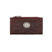 Ladies' Foldover Wallet - Crimson Red
