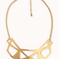 Cutout Geo Bib Necklace
