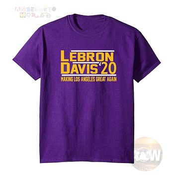 LA Lakers Los Angeles Lebron James Anthony Davis Unisex Graphic T Shirt