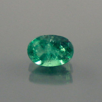 Emerald: 0.63ct Green Oval Shape Gemstone, Natural Hand Made Faceted Gem, Loose Precious Beryl Mineral, Cut Crystal AAA Jewelry Supply 20075