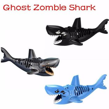 ESBONJ Ghost Zombie Shark Action Bricks Single Sale Pirates of the Caribbean Building Bricks Toys For Children PG1008