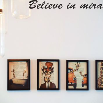 Believe in miracles Style 28 Die Cut Vinyl Decal Sticker Removable