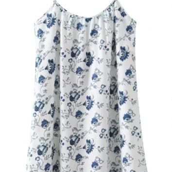 Summer Sweet Printed Mini Slip Cotton Dress For Woman - OASAP.com
