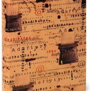 Typewriter Letters Italian Printed Leather Journal (6x8)