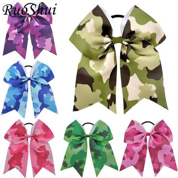 7 Inch Camouflage Printed Cheer Bow