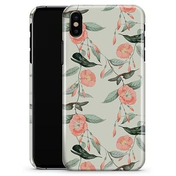The Coral Flower and Hummingbird on Branches - iPhone X Clipit Case