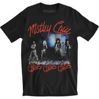 Motley Crue Men's  Smokey Street Slim Fit T-shirt Black