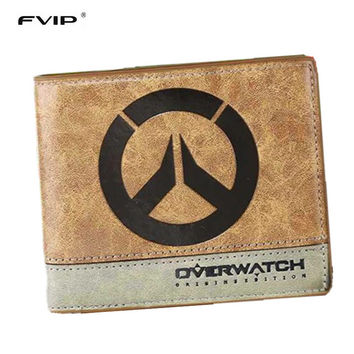 FVIP Japanese Anime Poke Death Note Attack on Titan One Piece Overwatch Wallet With Coin Pocket Zipper Poucht Billetera
