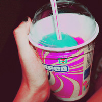 711, auroraskies, color, cute, pink, slurpee - inspiring picture on Favim.com