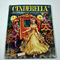 "FIRST EDITION Vintage Children's Book ""Cinderella"" - 1954  - Classic Fairy Tale - By Wonder Books - Art Work by Ruth Ives - Good Condition"