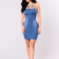 Fight The Moonlight Dress - Medium Wash