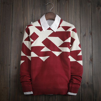 Fashion Men's Comfortable Knitted Sweater