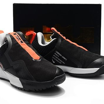 LeBron Ambassador XI Basketball Shoes - Black/Orange