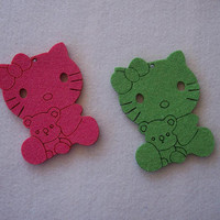 Hello Kitty Design   Felt 3mm  Quantiity 3 pieces by GreekArt