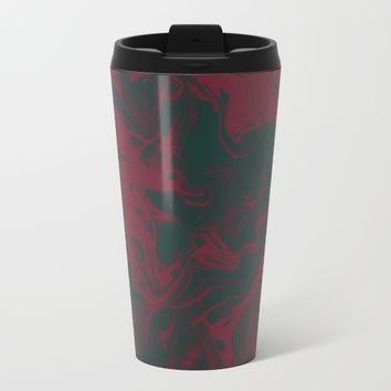 Cranberry and Evergreen Metal Travel Mug by DuckyB