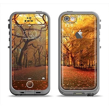 The Fall Back Road Apple iPhone 5c LifeProof Fre Case Skin Set