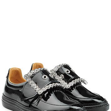 Maison Margiela - Patent Leather Buckle Front Sneakers