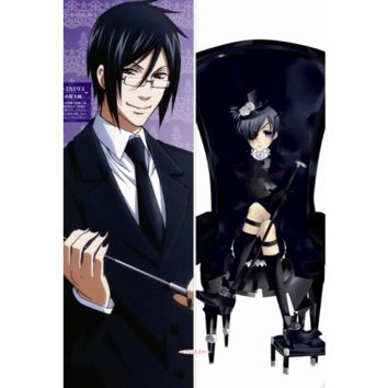 New Black Butler Anime Dakimakura Japanese Pillow Cover BB1 Male