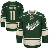 Reebok Zach Parise Minnesota Wild Premier Player Jersey - Green