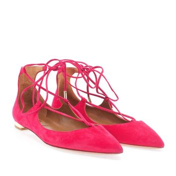 AQUAZZURA | Christy Point-Toe Flats | Browns fashion & designer clothes & clothing