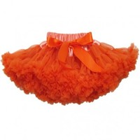 Elegant Orange Colored Fashionable Newborn Tutu Skirt