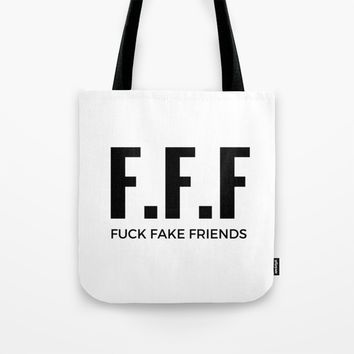 F.F.F Tote Bag by Rise_Designs