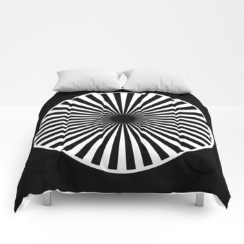 black and white Comforters by netzauge