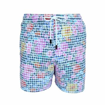 98 Coast Av Pixel Florals Trunks White