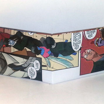 Comic Book Wallet// X-Men// Genesis, Sprite, Quentin Quire, and Kid Gladiator