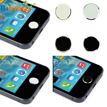 Levert Dropship Best Quality Original Binmer 2 Pcs Metal Home Button Keypad Sticker Key Post for iPhone Aug 06