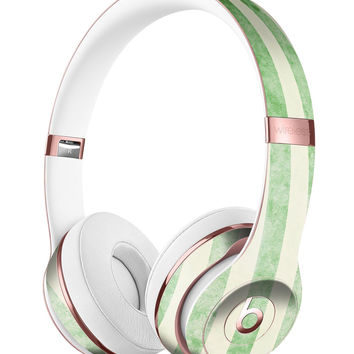 Faded Green Vertical Stripes Full-Body Skin Kit for the Beats by Dre Solo 3 Wireless Headphones