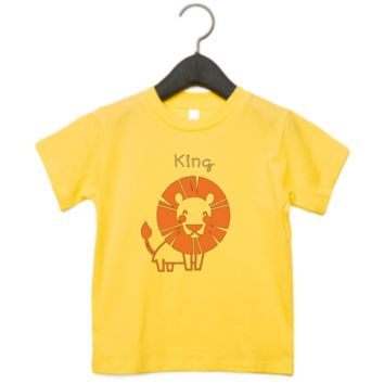 Toddler Boys King Lion Short Sleeve T-shirt