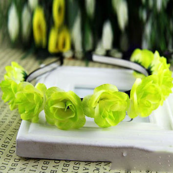 Kids Baby Girls Floral Flower Headwear Headbands Crown Wreath Hair Decor Hairbands NW
