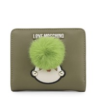 Love Moschino Green Synthetic Leather Purse
