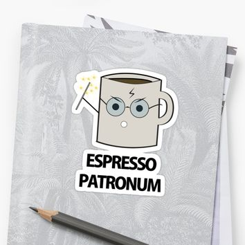 'Espresso Patronum' Sticker by Slae