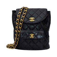 Chanel Mini Vintage Lambskin Backpack