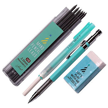 Mind Combo 2.0mm Lead Holder Pen Mechanical Pencil for Draft Drawing, Art Sketching +(Lead 1 Pack Holder Eraser)