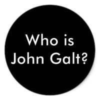 Who is John Galt? stickers from Zazzle.com