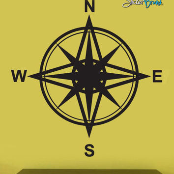 Vinyl Wall Decal Sticker Magnetic Compass Instrument #263